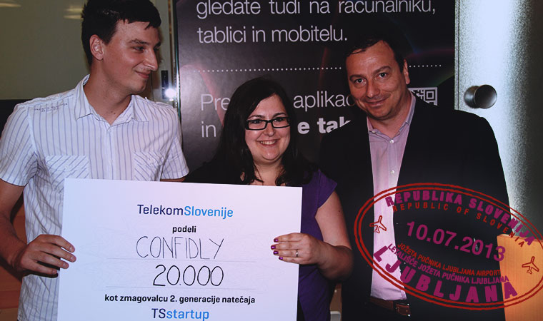 Confidly: the winner of TSstartup